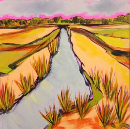 Reedham Marshes by Sarah Cannell. Greetings Card £2.50
