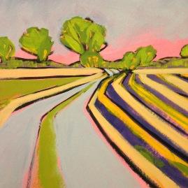 Towards Clinks Farm by Sarah Cannell. Greetings Card £2.50