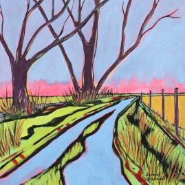 Watermeadow Lane by Sarah Cannell. Greetings Card £2.50